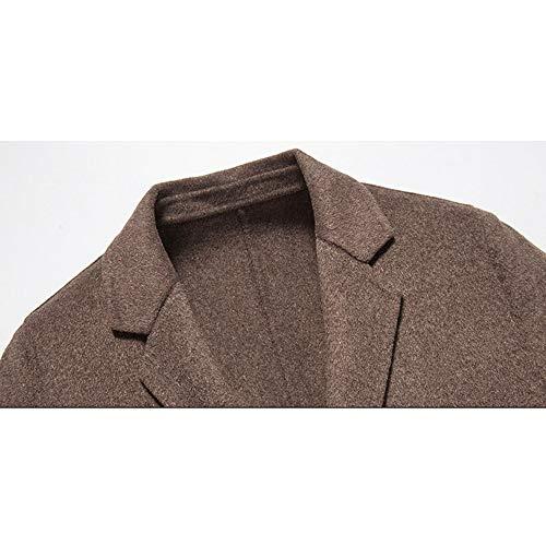 Vento Vento Gray nihiug Doppio Lunga A Vento Cappotto Giacca da A Strato Caldo Vento Uomo Giacca Elegante A Uomo Invernale Collo Giacca da da Uomo Cappotto IrrgxS