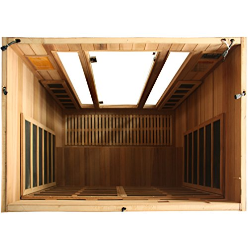 Crystal Sauna FWC400 4-Person Family Infrared Sauna in Red Cedar