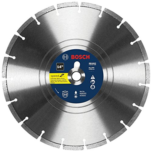 Bosch DB1441 Premium Plus 14-Inch Wet Cutting Segmented Diamond Saw Blade with 1-Inch Arbor for Masonry