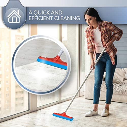 """3 FLOOR HEAD SQUEEGEES SET Wiper 16/"""" Cleaning Drying Flood Water Wet Room Cloth"""