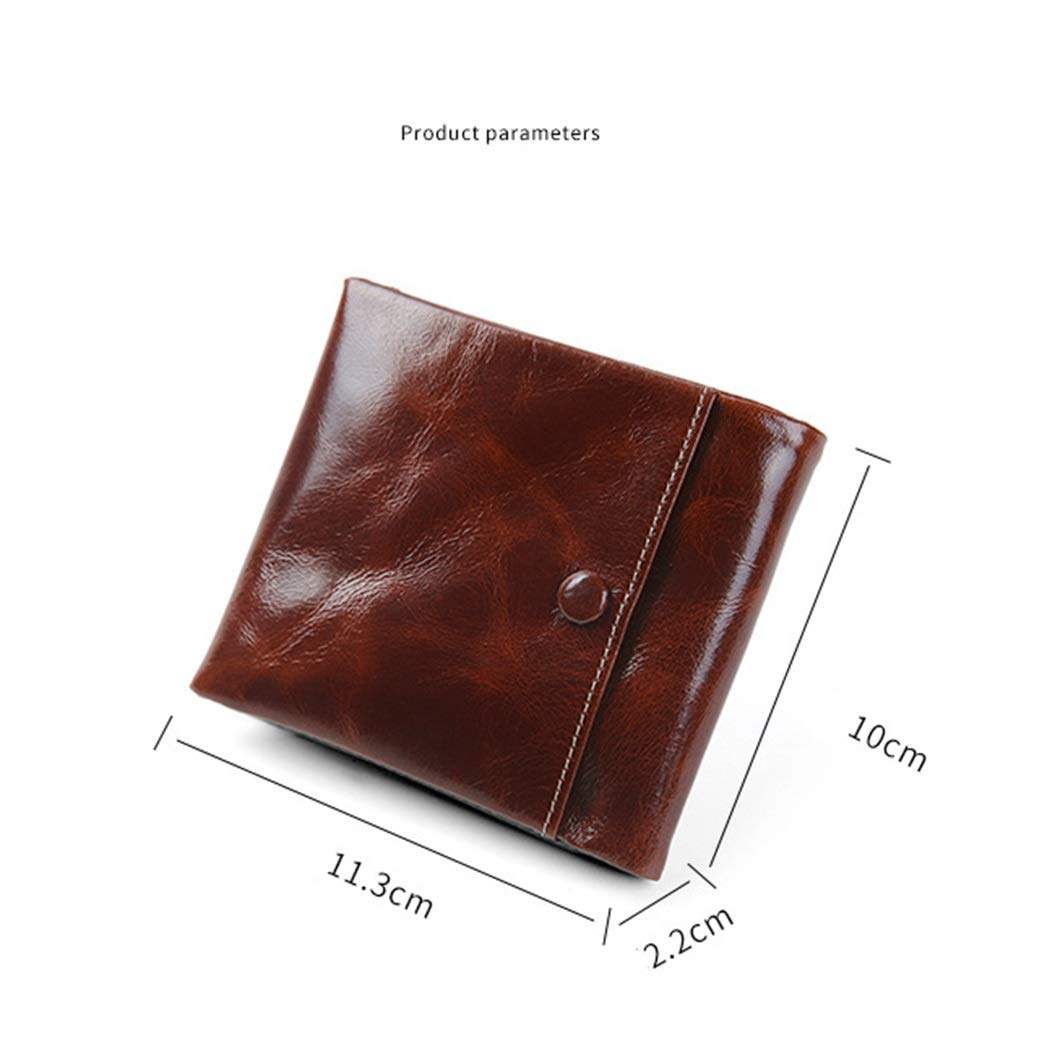 Sleek and Stylish Gift for Men Bifold Top Flip Wallet Color : Black Multi Card Extra Capacity Travel Wallet CEFULTY ID Window Wallet for Men
