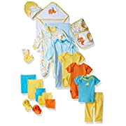 Luvable Friends Baby 24 Piece Gift Cube Set, Yellow Birds, 0-6 Months