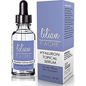 Wrinkle Filling Hyaluron (Hyaluronic Acid) Topical Serum From Lilian Fache - Highest Quality - Anti Aging Formula 30ml