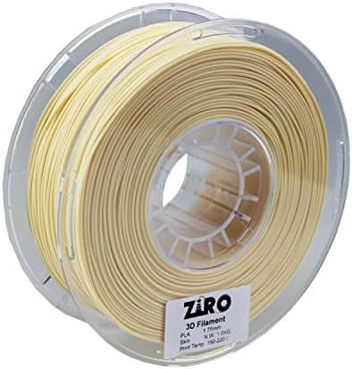 ZIRO 3D Printer Filament PLA 1.75 1KG(2.2lbs), Dimensional Accuracy +/- 0.05mm, Skin