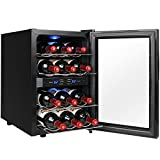 AKDY 18 Bottle Single Zone Freestanding Adjustable Temperature...