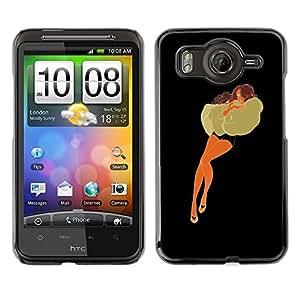 Shell-Star Art & Design plastique dur Coque de protection rigide pour Cas Case pour HTC Desire HD / G10 / inspire 4G( Woman Pillow Fashion Dream Outfit Drawing )