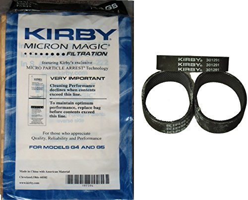 Kirby NEW 9 Micron Vacuum Cleaner Bags G4 & G5 with belts by Kirby