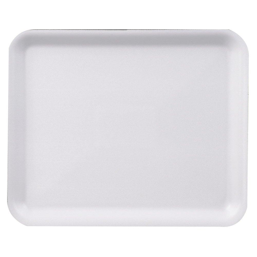 Pactiv Foam 8H Heavy Supermarket Tray White, 10.5'' Length x 8.25'' Width   400/Case
