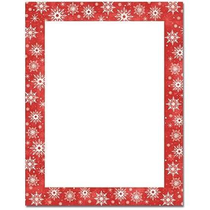 amazon com snowflakes on red border christmas holiday computer