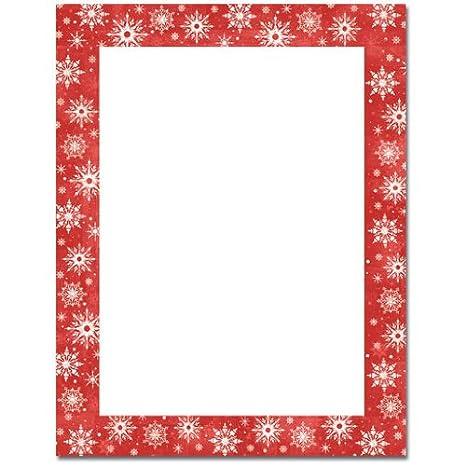 christmas border red