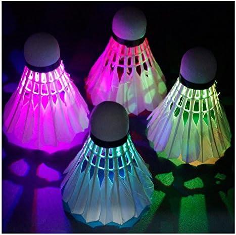 Sunnyshinee Pelota de bádminton luminosa con luz LED (verde ...