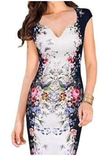 V Women One Step Printed Neck Dresses Fit Sleeveless Coolred White Summer Silm xCI8Fd