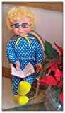 Two Mrs. Beasley Doll Laminated Refrigerator Magnets (Reading A Book & Showing Off Her Ornament)