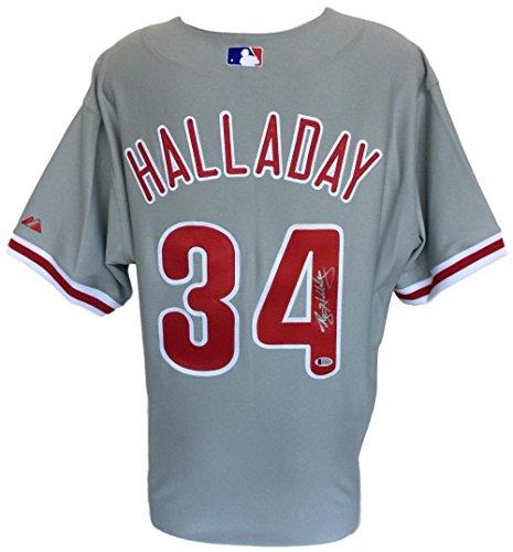 Roy Halladay Signed Philadelphia Phillies Authentic Gray Majestic Jersey ()