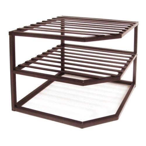 Seville Classics 2-Tier Corner Shelf Counter