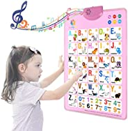 Electronic Interactive Alphabet Wall Chart, Talking ABC & 125s & Music Poster, Best Educational Toy fo