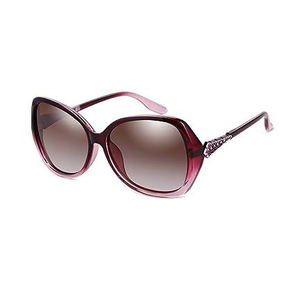 LIZHIQIANG Gafas De Sol Polarizadas Mujer Retro Marea Cara ...