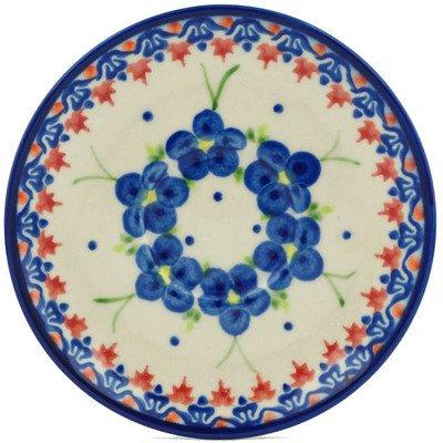 Polish Pottery Saucer 5-inch Passion Poppy UNIKAT by Polmedia Polish Pottery