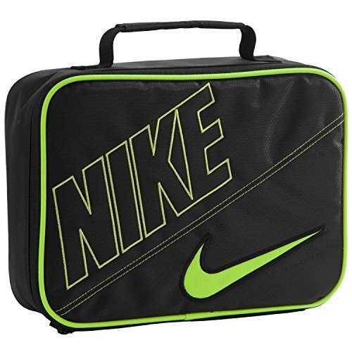 bd42a43f70117 Nike Rectangular Lunch Tote (Black/Volt, One Size) - Import It All