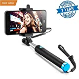 Selfie Stick, Case U Extendable [Battery Free] Wired Handheld Monopod for iPhone SE/6s/6/6 Plus, Samsung Galaxy S7/S6/Edge, Note 5/4, Nexus 6P, LG G5, Moto X/G, Pixel 2 and More (Black)