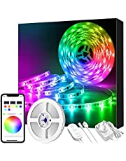 DreamColour LED Strip Lights, Govee 5M Music Sync Phone Controlled Lighting Strip Kit, Waterproof Colour Changing Rope Light for Party Room Bedroom TV Kitchen Cabinet Decoration with UK Plug