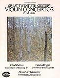 Great Twentieth-Century Violin Concertos in Full Score (Dover Music Scores)