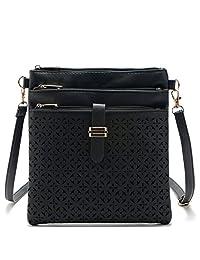 Donalworld Women PU Leather Cell Phone Pouch Cross Body Shoulder Handbag