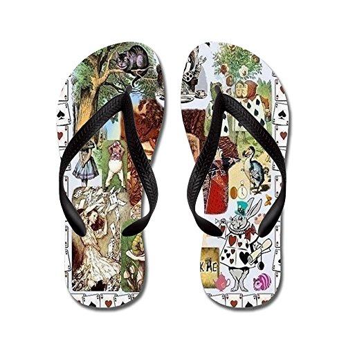 CafePress Wonderland - Flip Flops, Funny Thong Sandals, Beach Sandals Black