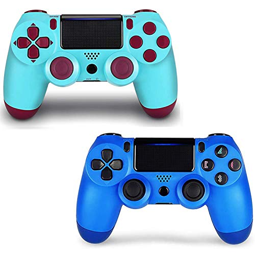 2 Pack Game Controller for PS4- Double Shock 4 Wireless Controller for Playstation 4 - Joystick with Sixaxis, Bluetooth, Super Power, Micro USB, Multi-Touch Clickable Touch Pad (MLL)