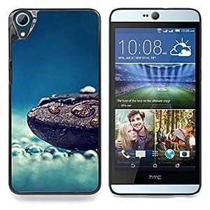 """Lluvia Naturaleza grano de café azul Clean Mist"""" - Metal de aluminio y de plástico duro Caja del teléfono - Negro - HTC Desire 626 626w 626d 626g 626G dual sim"""
