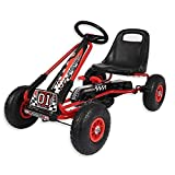 Motor Racing Style Kids Childrens Pedal Go Kart On Rubber Wheels