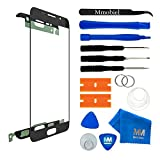 MMOBIEL Front Glass for Samsung Galaxy A3 (2016) A310 (Black) Display Touchscreen incl 12 pcs Tool Kit/Pre-cut Sticker/Tweezers/Roll of Adhesive Tape/Suction Cup/Metal Wire/cleaning cloth