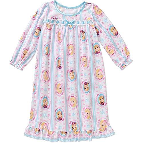 Toddler Girls' Disney Frozen Elsa Anna Granny Nightgown Pajama (4t) (Disney Frozen Gowns)