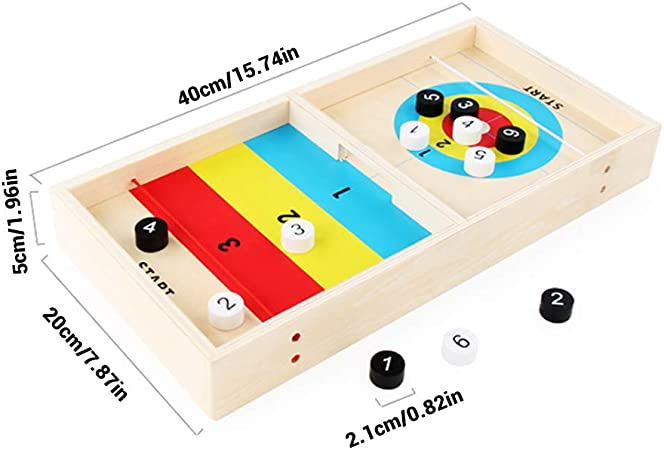 Juguete Junta Equipo De Sobremesa Curling Juego Y Diversión De La Familia Juegos De Mesa -Tabletop Hielo Curling Juego De Pelota De Hielo De Madera Juego De Mesa Juguetes Montessori Learning Educación: