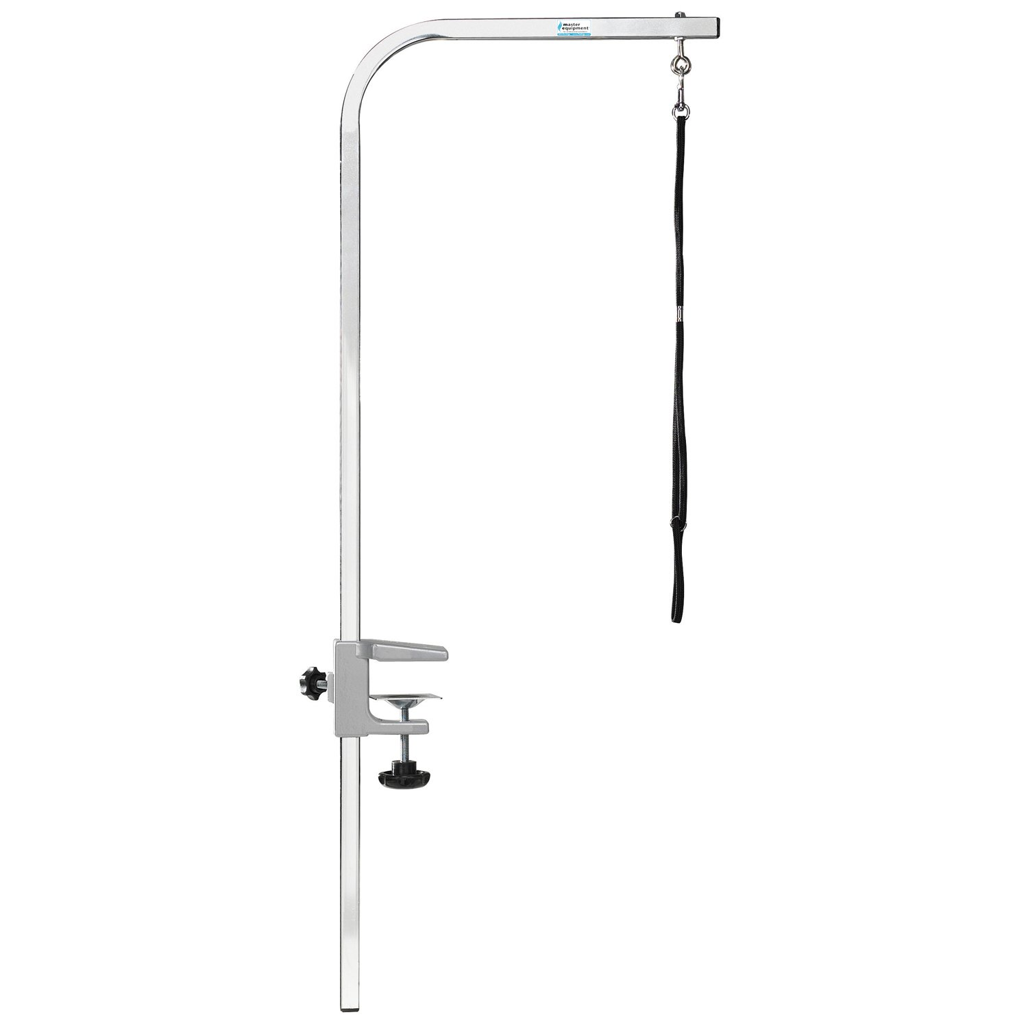 Pet Edge Master Equipment Silver Aluminum Pet Grooming Arm & Clamp - Adjustable Height to 36'', Fits Most Grooming Tables