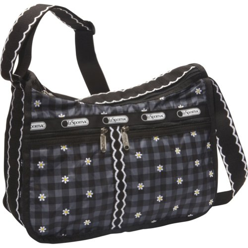 LeSportsac Deluxe Everyday Shoulder Bag,Hello Daisy,One Size, Bags Central