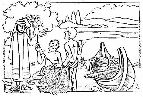 Malbilder Zur Bibel Jesus 24 Ausmalbilder In Einer Mappe Amazon