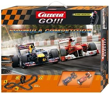 Carrera - GO 143: Formula Competition (Ferrari F. Alonso y Red Bull S. Vettel) 6.3 metros, escala 1:43 (20062272): Amazon.es: Juguetes y juegos