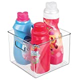 mDesign Laundry Storage Organizer Bin for Detergent Pods, Bleach, Fabric Softener - Large, Clear