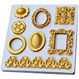 jewelry and frame silicon mold cake decoration