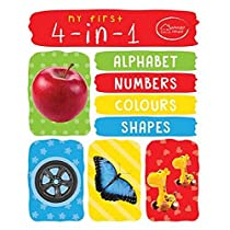 My First 4in1 Alphabets Numbers Colours Shape Padded Board