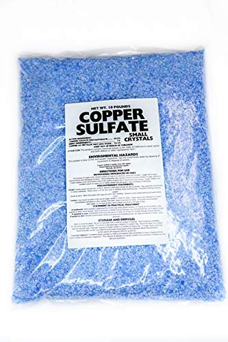 Copper Sulfate Small Crystals 10lb Bag by Earthworks Health LLC