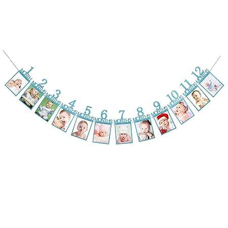 Decoraciones de Regalo de cumpleaños para niños 1 a 12 Meses ...