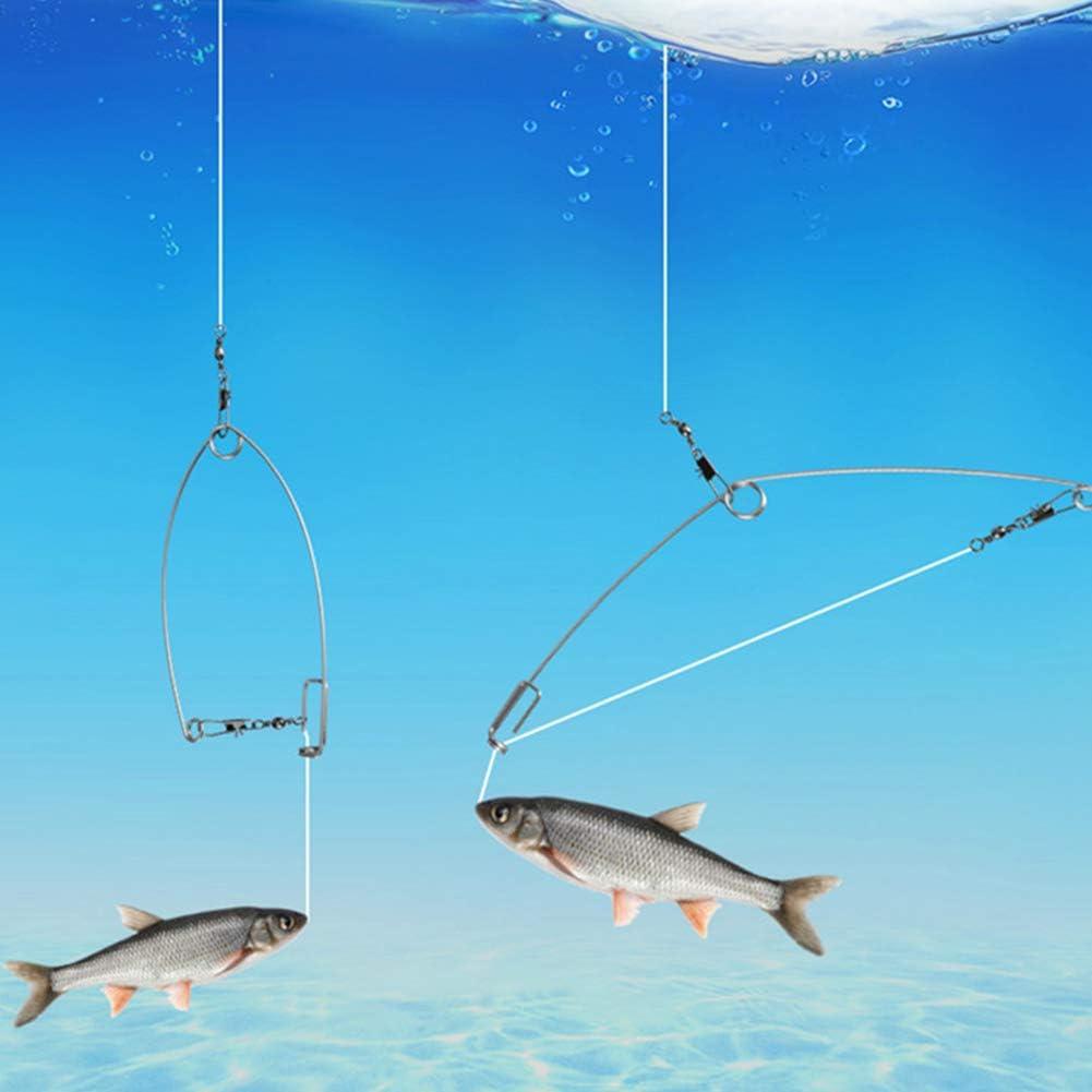 No nulo anzuelo de dios y anzuelos perezosos apto para todo tipo de lugares de pesca Paquete de 5 como se muestra en la imagen 5 paquetes de anzuelos de pesca autom/áticos para m/áxima velocidad