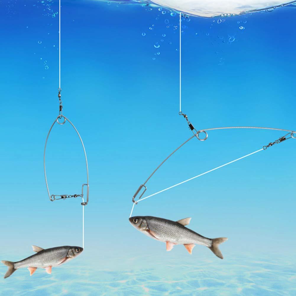 como se muestra en la imagen. Apto para todo tipo de lugares de pesca gancho de dios y anzuelos de pescado perezosos 5 paquetes de ganchos de pesca autom/áticos para m/áxima velocidad Paquete de 5
