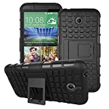 DRUnKQUEEn For HTC Desire 510 Rugged Hybrid Armor Dual Layer Hard Shell Tire Tread Grenade Grip Combat Tyre Textured Kickstand Case Cover
