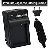 SNS-Nixxell Battery Charger for Pentax D-LI109 and Pentax K-r, K-30, K-50,K-70, K-500, KR Digital SLR Cameras (Fully Decoded)