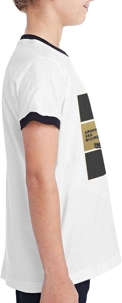 Armin Van Buuren-Blah Blah Blah Teen Boys and Girls Classic Short Sleeve T Shirts Classic Fit