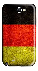 Samsung Galaxy Note II N7100 Cases & Covers - Tattered German Flag Custom PC Soft Case Cover Protector for Samsung Galaxy Note II N7100
