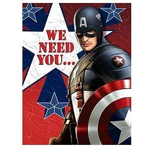 Amazon.com: Captain America - Invitations Party Accessory: Toys ...